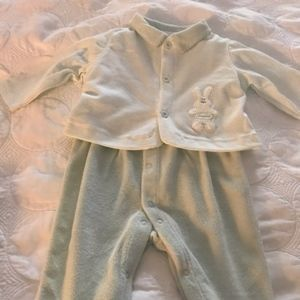 NWT Absorba Two Piece Footed Outfit